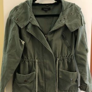 Khaki green military/utility style jacket